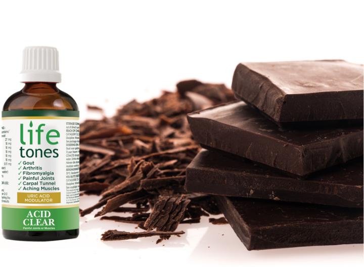 dark chocolate and high uric acid